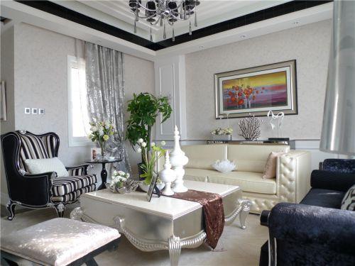 混搭风格六居室客厅茶几装修图片