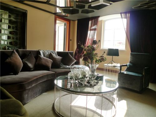混搭风格六居室客厅窗帘装修效果图大全