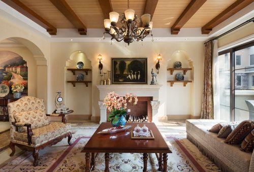 混搭风格四居室客厅茶几装修效果图大全