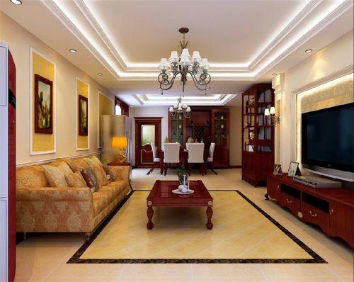 混搭风格四居室客厅隔断装修效果图欣赏