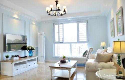 混搭风格二居室客厅背景墙装修效果图