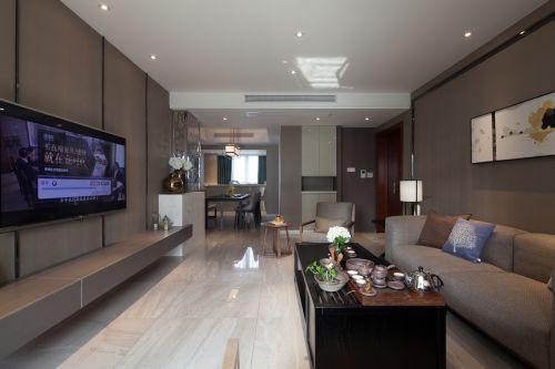 混搭风格四居室客厅电视柜装修效果图欣赏
