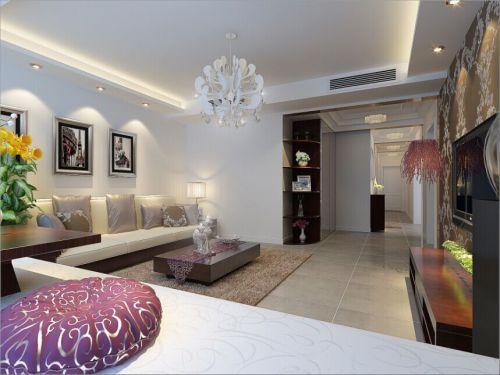 混搭风格二居室客厅茶几装修图片