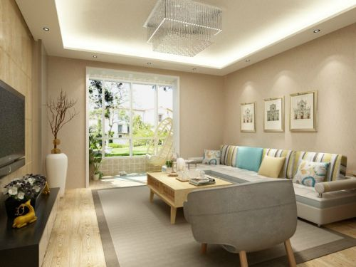 混搭风格三居室客厅照片墙装修效果图欣赏