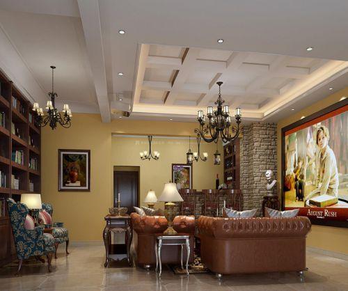 混搭风格五居室客厅吧台装修效果图大全