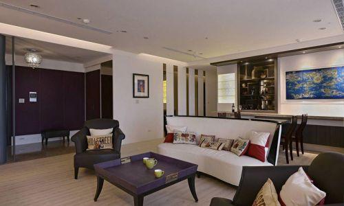 混搭风格三居室客厅沙发装修效果图