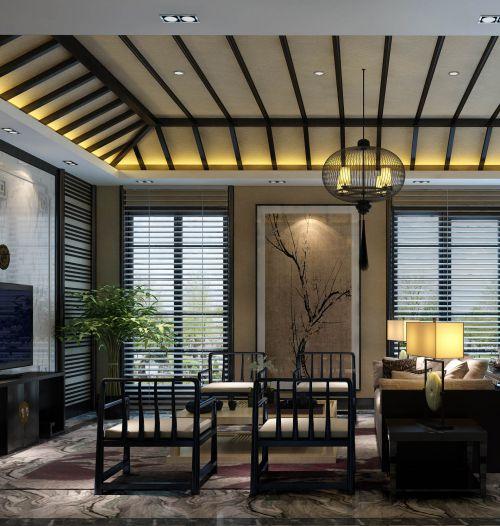 混搭风格四居室客厅灯具装修图片