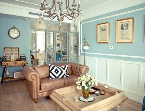 混搭风格二居室客厅吊顶装修效果图大全