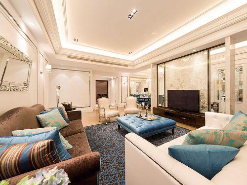 混搭风格六居室以上客厅吊顶装修效果图欣赏