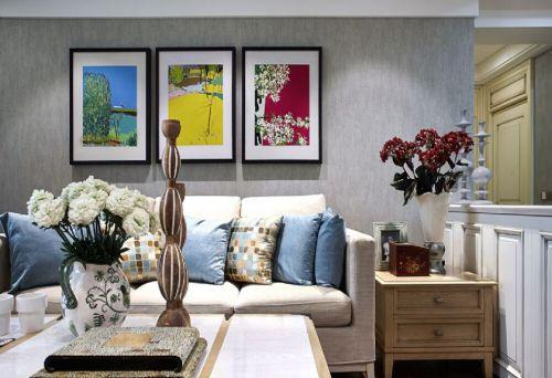 混搭风格三居室客厅沙发装修效果图欣赏