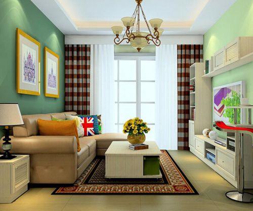 混搭风格三居室客厅电视柜装修效果图欣赏