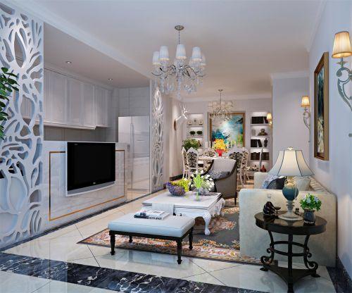 混搭风格二居室客厅沙发装修效果图欣赏