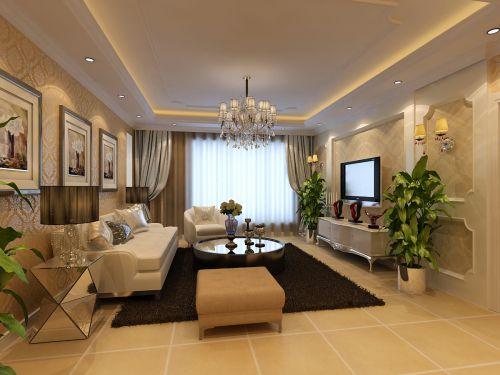 混搭风格别墅客厅沙发装修效果图欣赏