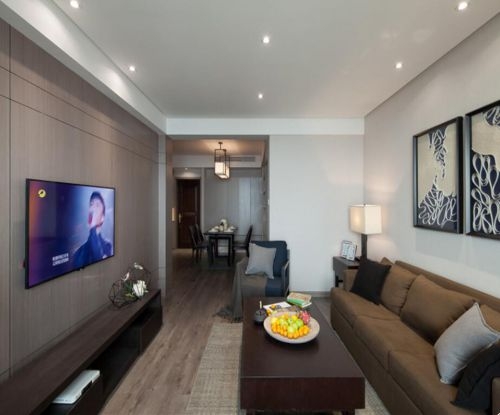 混搭风格四居室客厅沙发装修效果图欣赏