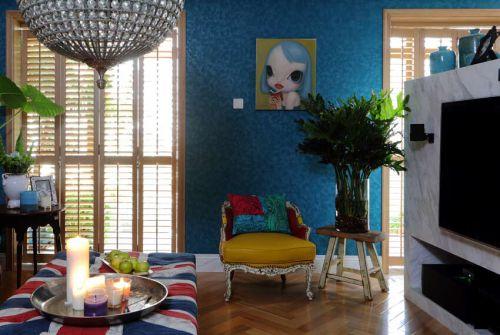 混搭风格五居室客厅壁纸装修效果图大全