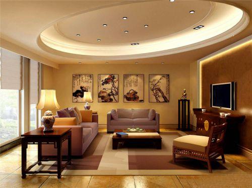 混搭风格四居室客厅隔断装修效果图