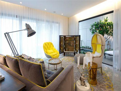 混搭风格四居室客厅沙发装修图片