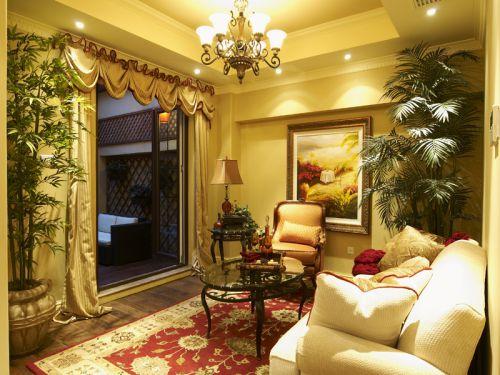 混搭风格二居室客厅影视墙装修效果图大全