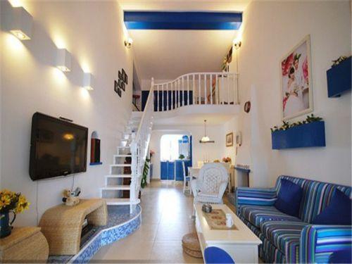 混搭风格三居室客厅壁纸装修效果图大全