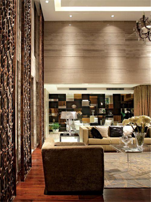 混搭风格三居室客厅隔断装修效果图大全