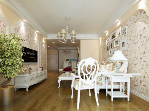 混搭风格三居室客厅照片墙装修效果图