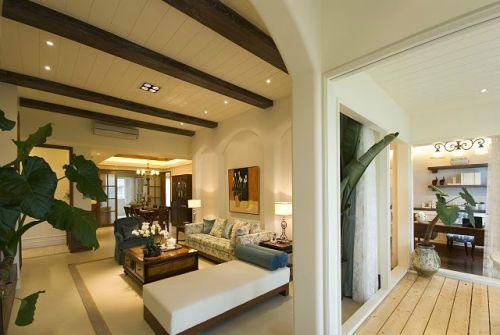 混搭风格三居室客厅吊顶装修效果图