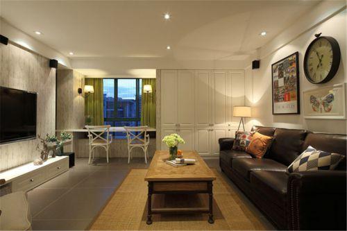 混搭风格三居室客厅影视墙装修效果图