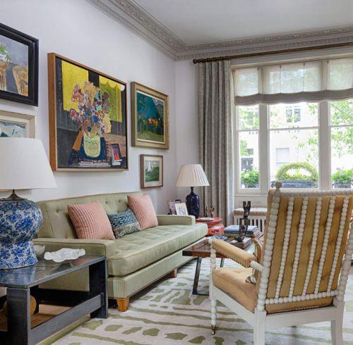 混搭风格温馨明快客厅沙发图片欣赏