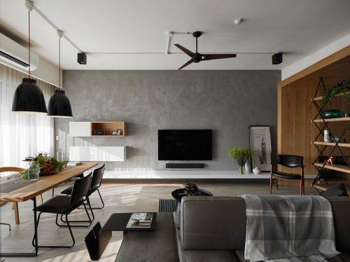 简洁雅致混搭风格客厅背景墙设计图