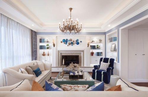 雅致文艺美式风格客厅灯具装修设计