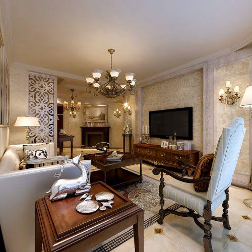 美式风格二居室客厅装修效果图大全