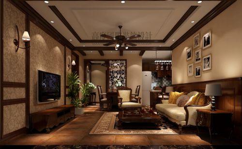 美式风格二居室客厅装修图片欣赏