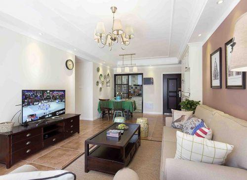 时尚大气米色美式风格客厅设计效果图
