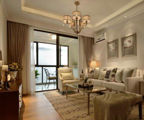 时尚大气米色美式风格客厅装修效果图