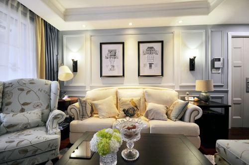 美式风格舒适自在客厅装修效果图