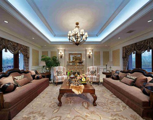 别墅客厅休闲美式装修风格样板房
