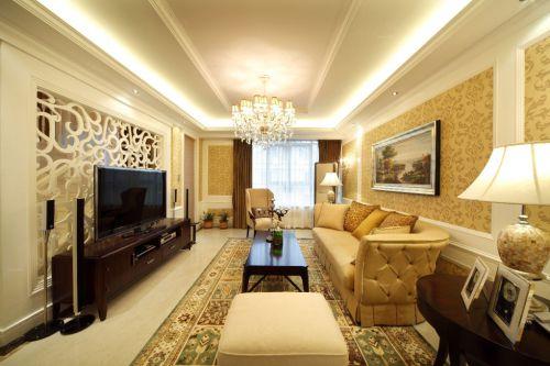美式风格客厅50平米小户型装修图