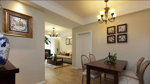 三居室客厅美式装修风格样板房