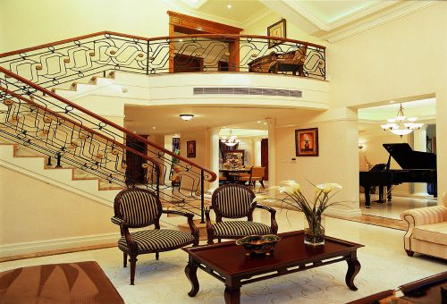 复式客厅美式装修风格样板房