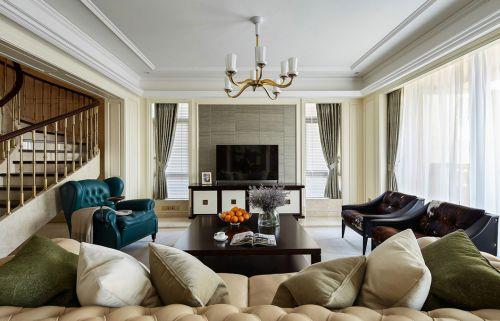 优雅气质简约美式风格客厅装修设计