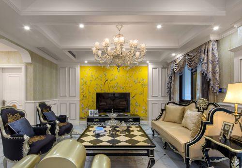 华丽大气美式风格客厅时尚茶几装修图