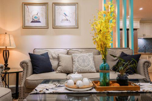 气质淡雅美式风格客厅装修设计