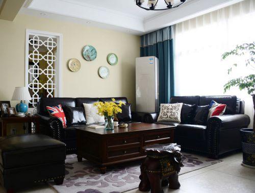 78平典雅三居室美式风格客厅装修效果图