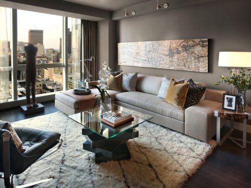 典雅温婉美式风格客厅沙发装修实景图