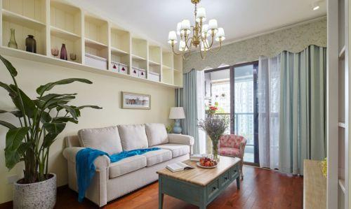 清新美式风格客厅沙发效果图欣赏