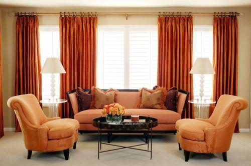 优雅大气的小户型美式客厅装修效果图