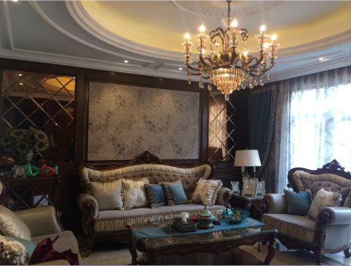 美式六居室客厅装修效果图大全