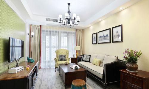华丽美式风格客厅沙发效果图大全