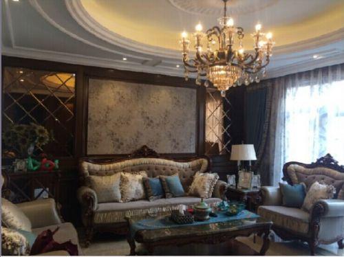 美式风格六居室客厅装修图片