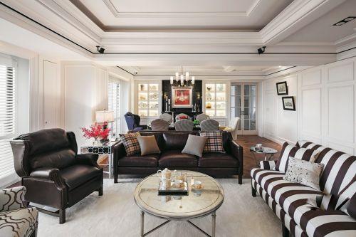 休闲美式混搭个性沙发茶几客厅装修效果图